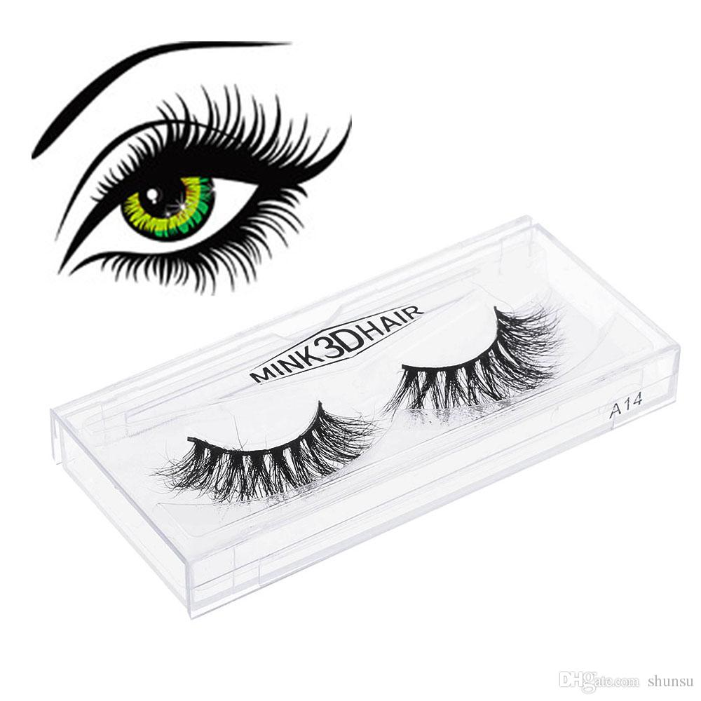 Hot Sale Sexy Women100% Real 3D Mink Full Strip False Eyelash Long Individual Eyelashes Party Mink Lashes Extension