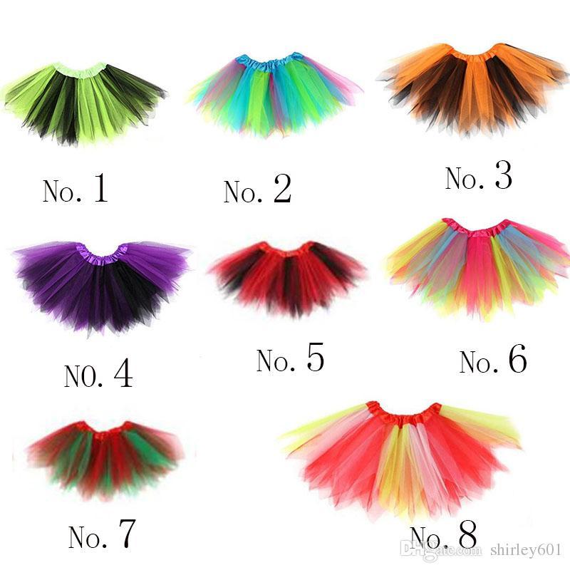 2017 new tutu skirt mini dress party ballet dance skirt girls skirt children tutu pettiskirt clothes