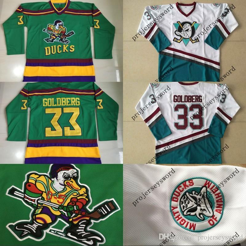 26f77d6c0 ... hockey jersey conway; 2018 33 greg goldberg jersey 1996 06 mighty ducks  anaheim movie jersey mens 100 stitched embroidery