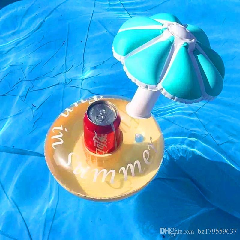 Mini Cute Funny Toy Red Flamingo Float Inflatable Drink Holder Swimming Pool Bathroom Beach Party Kids Bath Toy CBT04