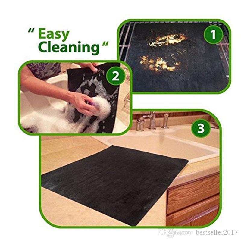 Teflon non-stick reusable BBQ Grill Mats sheet baking mat for barbecue grill sheet cooking Outdoor BBQ Accessories 40*33CM