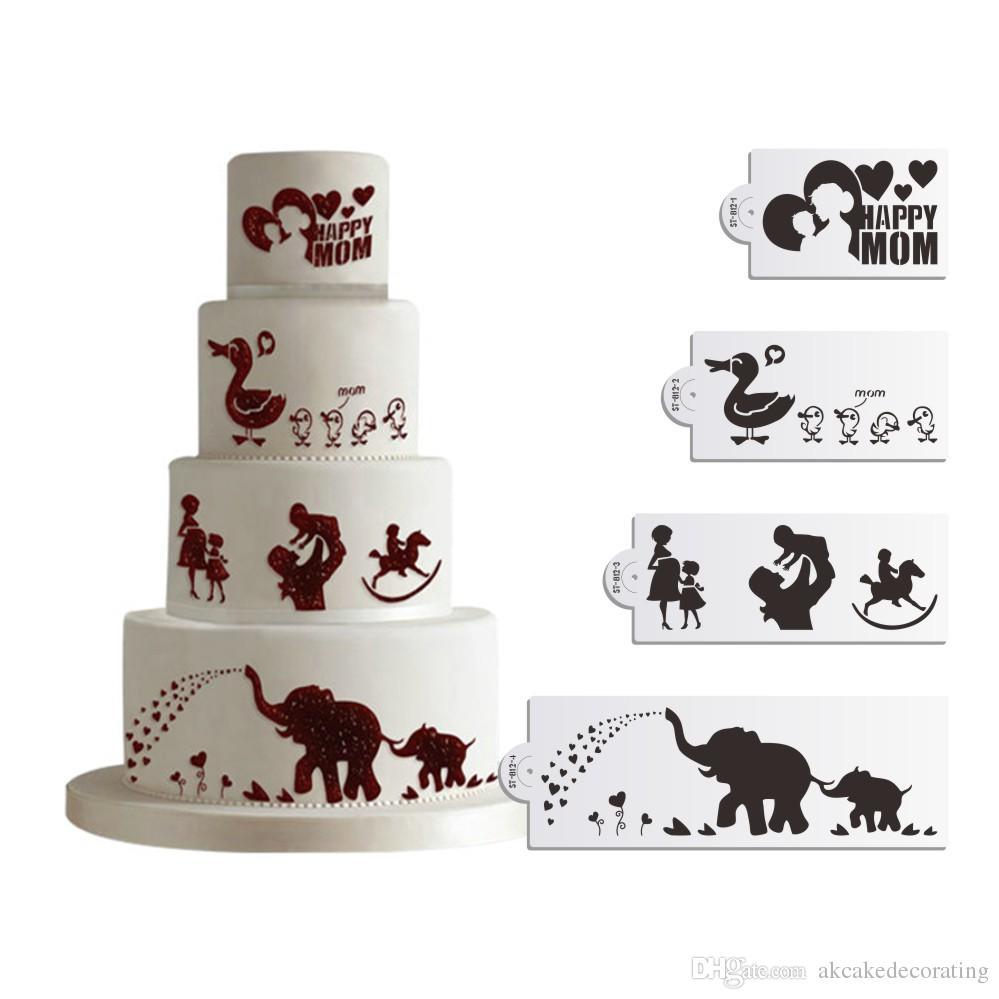 2017 sale happy mother u0027s day stencil cake decorating stencil