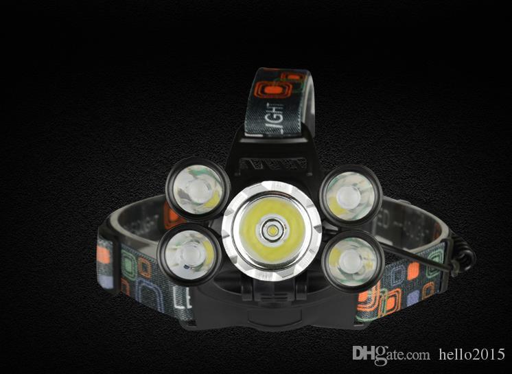 Recargable 18000lm 5 led Linterna con zoom ZOOM faro Lámpara de caza pesca luz de la bicicleta + Coche AC / Cargador