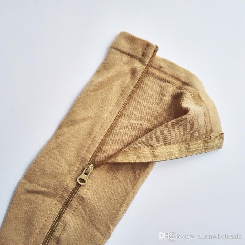 100 пар молния компрессионные носки для ног женщины Zip-Up носок ультратонкий дышащий Zip Sox