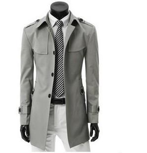 968c76b22d31 2019 Wholesale 2016 Men S Coat Top Fasion New Arrival Cotton Satin Hot  Selling Male Thin Trench Chromophous Slim Outerwear Fashion Grey Color From  Hongyeli