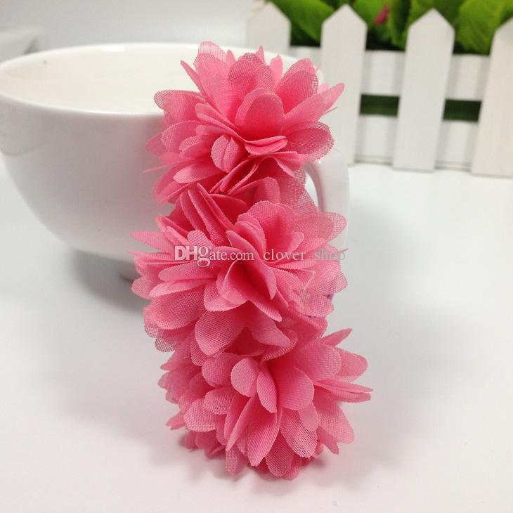 Chiffon Blumen Kinder Baby Mädchen Headwear Haarschmuck Gummibänder Haarspangen Mädchen Bogen Haar Seile Großhandel Boutique
