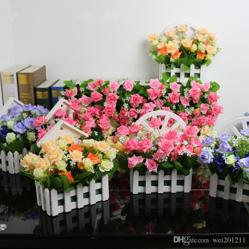 Online cheap simulation silk rose artificial flowers 15 heads flower online cheap simulation silk rose artificial flowers 15 heads flower grass plastic plants home decoration living room layout by wei201211 dhgate mightylinksfo