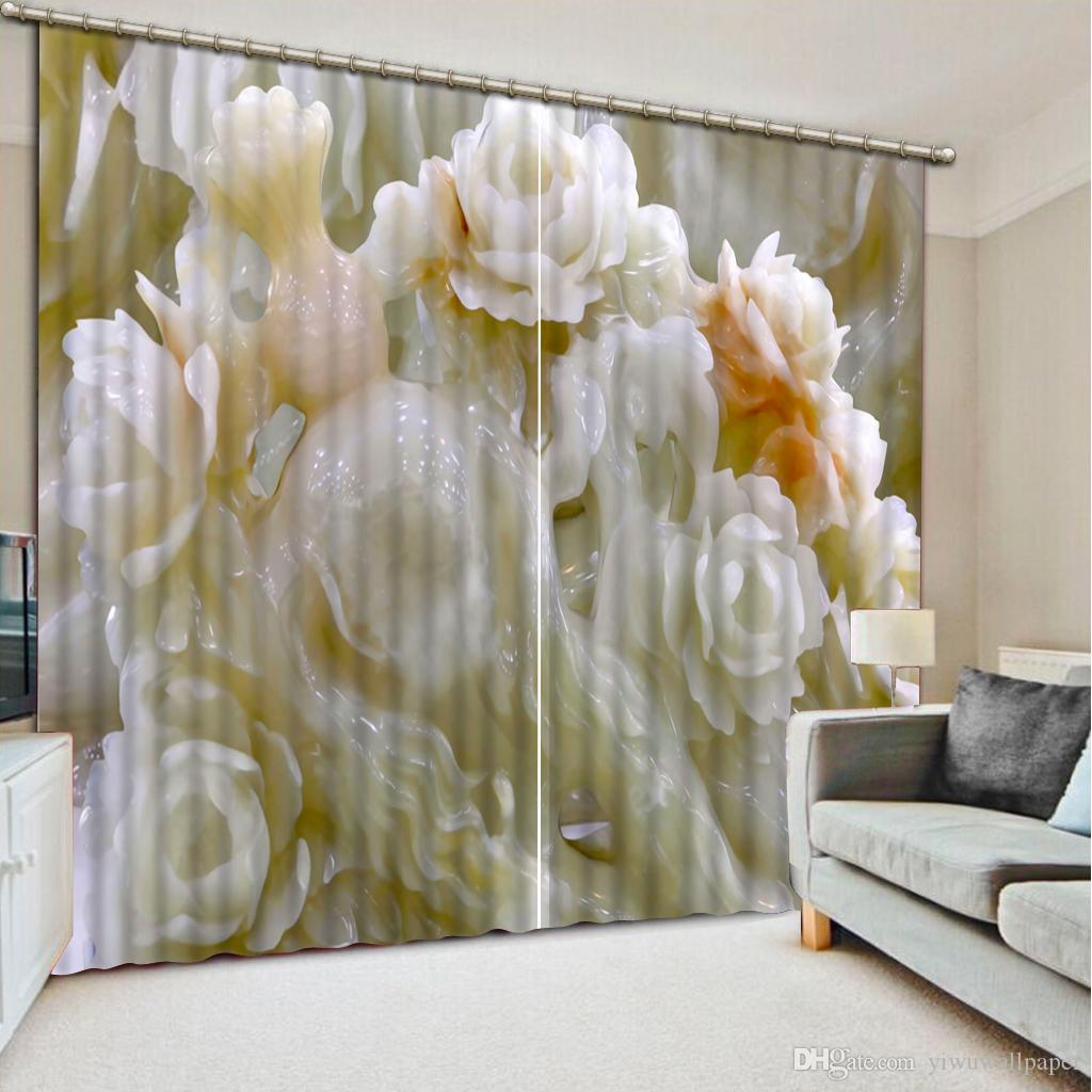 Acheter Top Classique 3D Style Européen Rideaux Salon Moderne Fleur ...