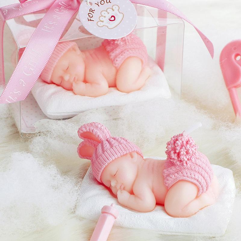 الأزرق الوردي لون الطفل اللباس البدر كعكة دخان عديمة اللهب الشموع لعطلة حفل زفاف عيد إمدادات هدية