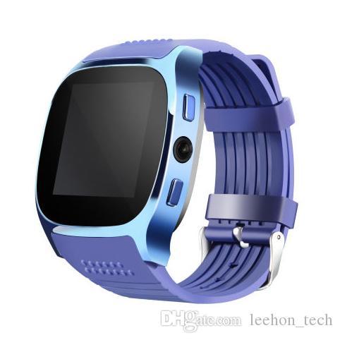 7d759852cbc Compre T8 Relógio Inteligente Telefone Móvel Bluetooth Smartwatch Com Câmera  Cartão Sim Pedômetro Sono Monitoramento Mensagem Lembrete Para Telefones ...