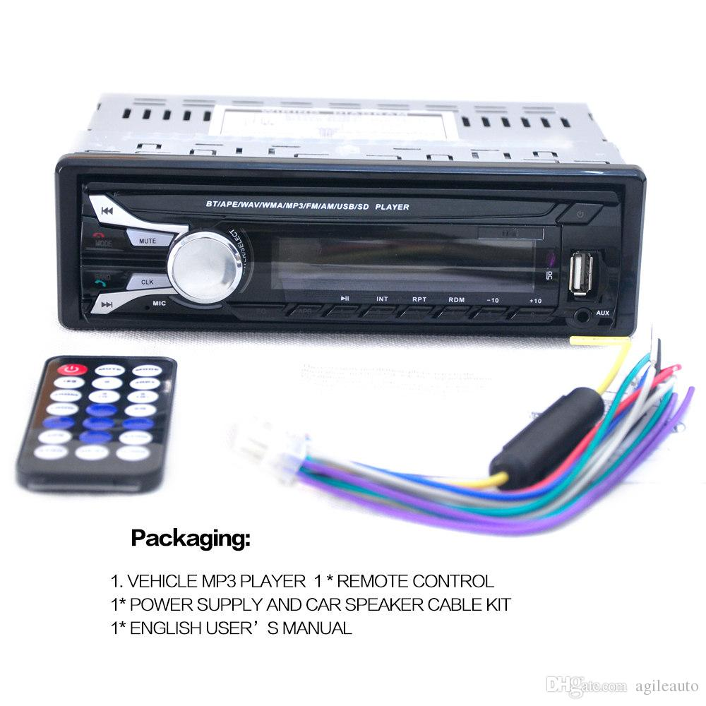 Car Audio Stereo FM MP3 Radio Player with Detachable Front Panel USB Remote Control CAU_01K