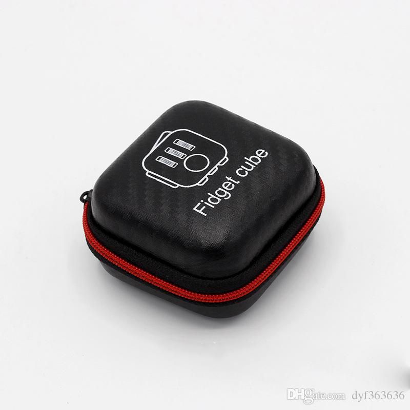 Fidget Cube Case /Package Zipper Case Portable Fidget Cube Box For Stress  Relief Focus Decompression Anxiety Toys Black Box Only Stress Reliever Ball  ...