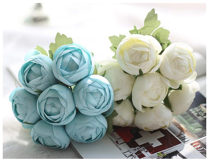 Spedizione gratuita Boccioli di fiori artificiali Disposizione dei fiori di seta All'ingrosso weddding o decorazione della stanza di casa