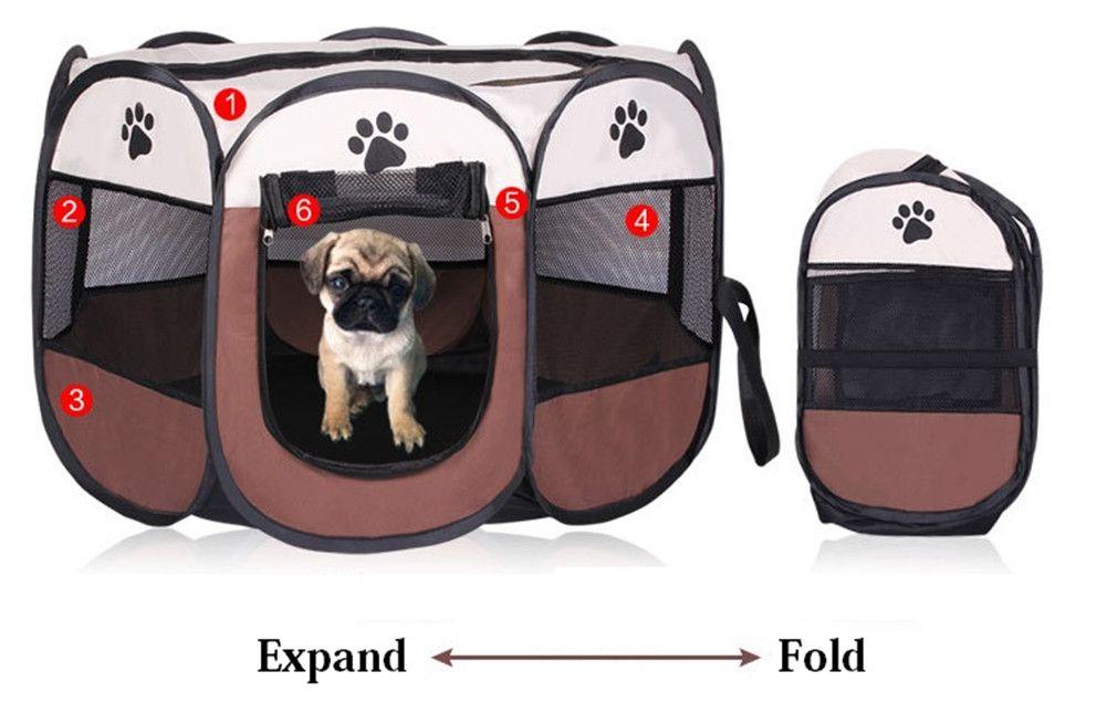 Portable Foldable Playpen Pet Tent