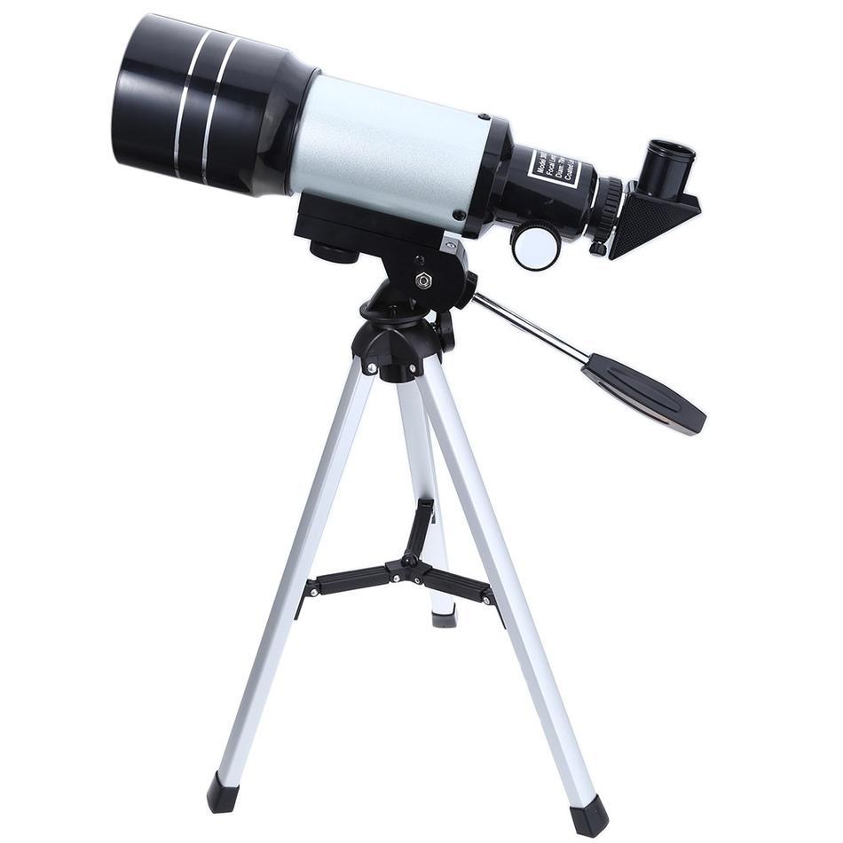 Freeshipping hd تلسكوب فلكي finderscope بروتابلي ترايبود قوي الأرضية الفضائية أحادي تلسكوب القمر مشاهدة
