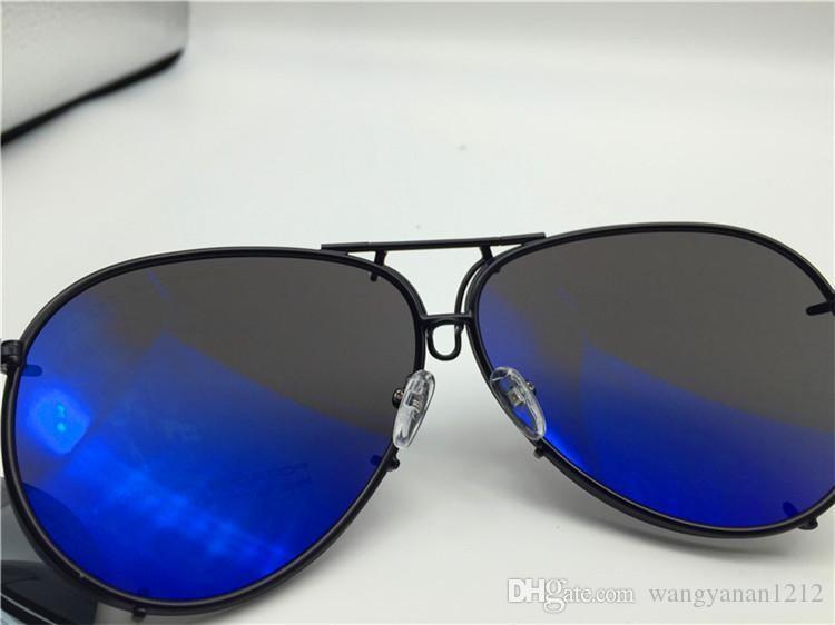 Car brand Carerras Sunglasses P8478 A mirror lens pilot frame with extra lens exchange car brand large size men brand designer