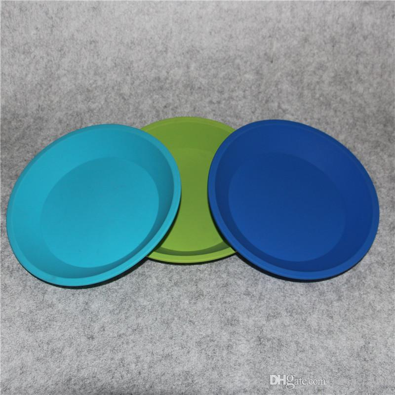 "Competitive price Deep Dish Round Pan 8"" Non Stick Silicone Container Concentrate Oil BHO tray free shipping"