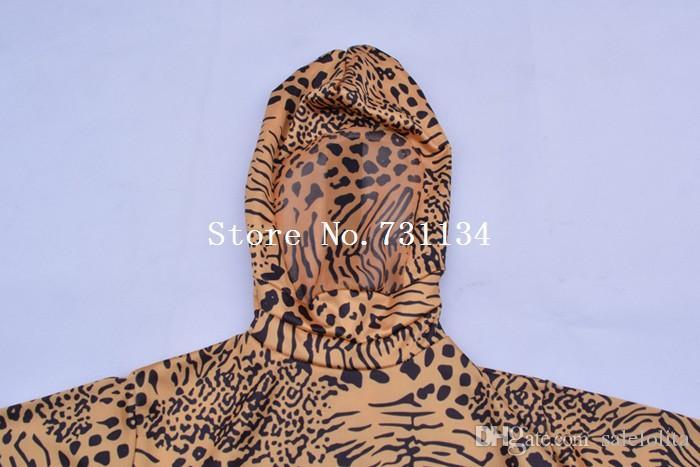 Crianças Leopardo Lycra Spandex Bodysuit Crianças Leopardo Zentai Terno de Corpo Inteiro Criança Trajes Do Partido Do Dia Das Bruxas