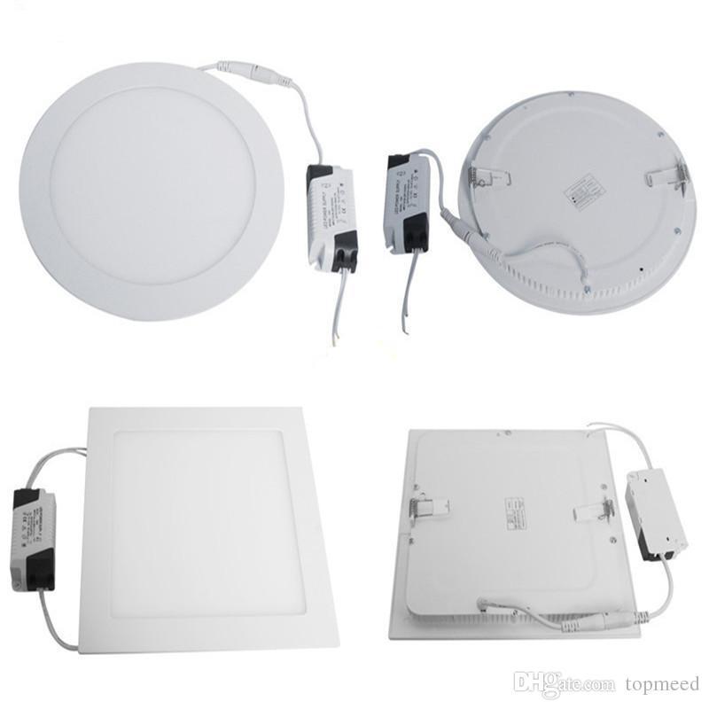 Dim LED Panel Işık SMD 2835 9 W 12 W 15 W 18 W 21 W 2200LM 110-240 V LED Tavan Işıkları Spot Lambaları Downlight Lambası + Sürücü