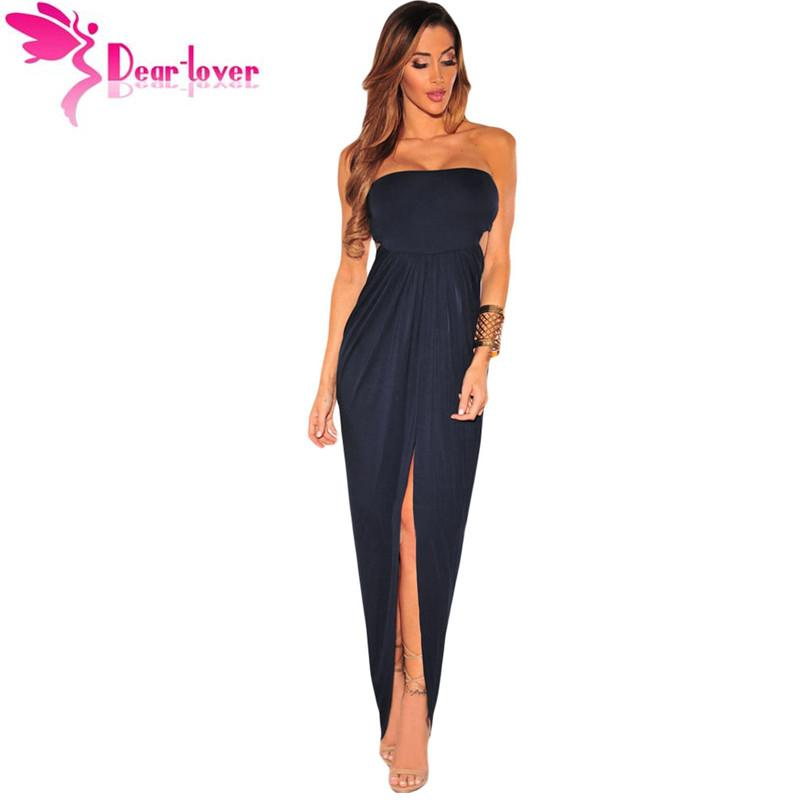 Navy Blue Sexy Strapless High Low Robe Femmes Draped Hollow Out Maxi Dress  Vestido De Verao Longo Night Clubs Lc61170 17410 Formal Evening Gowns  Designer ...