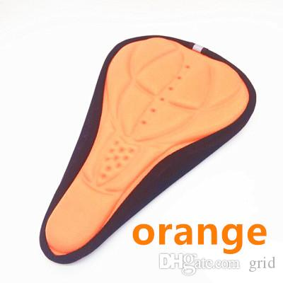 Free DHL High quality Cycling Bike 3D Pad Bicycle Seat Saddle Cover Soft Cushion Gel Silicone Thicker 3D Cushion Cover