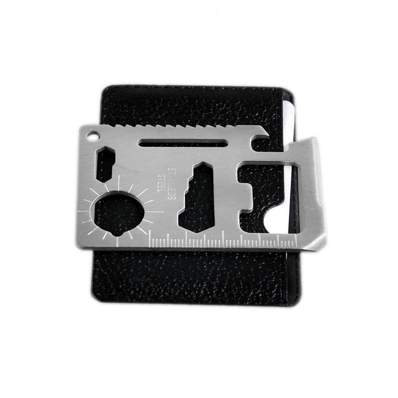Mini Stainless Steel 11 In 1 Multi Tools Hiking Hunting Camping Survival Pocket Wallet Credit Card Knife Outdoors Gear Life Saving 2504009
