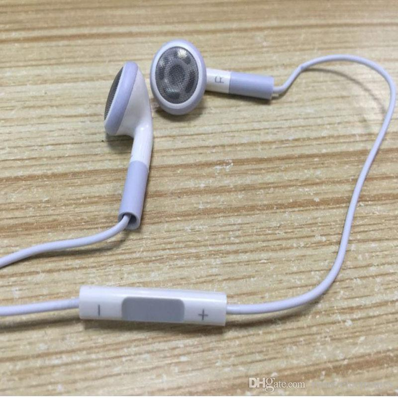 Quality white Earphone Stereo Handsfree in-ear Earphone w/ Remote & Mic For iPhone 6 6plus 5S 5 5C 4S 3GS