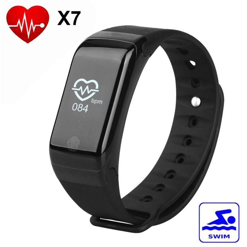 8c8b82f5358f Reloj Inteligentes X7 IP67 Impermeable Podómetro Monitor De Ritmo Cardíaco  Rastreador De Fitness Reloj