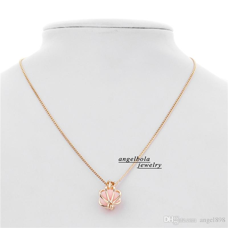 5Wholesale 3 Styles in stock Christmas Gift Love Wish Pearl Cage chain Necklace wish akoya oyster