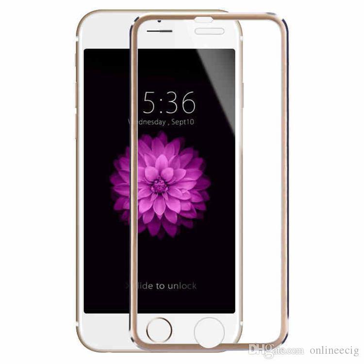 Temperli Cam Tam Kapak Ekran koruyucu Ultra-Ince 3D Kavisli Kenar iphone7 Için Titanyum Alaşım Tasarım / 7 / artı / 6/6 artı