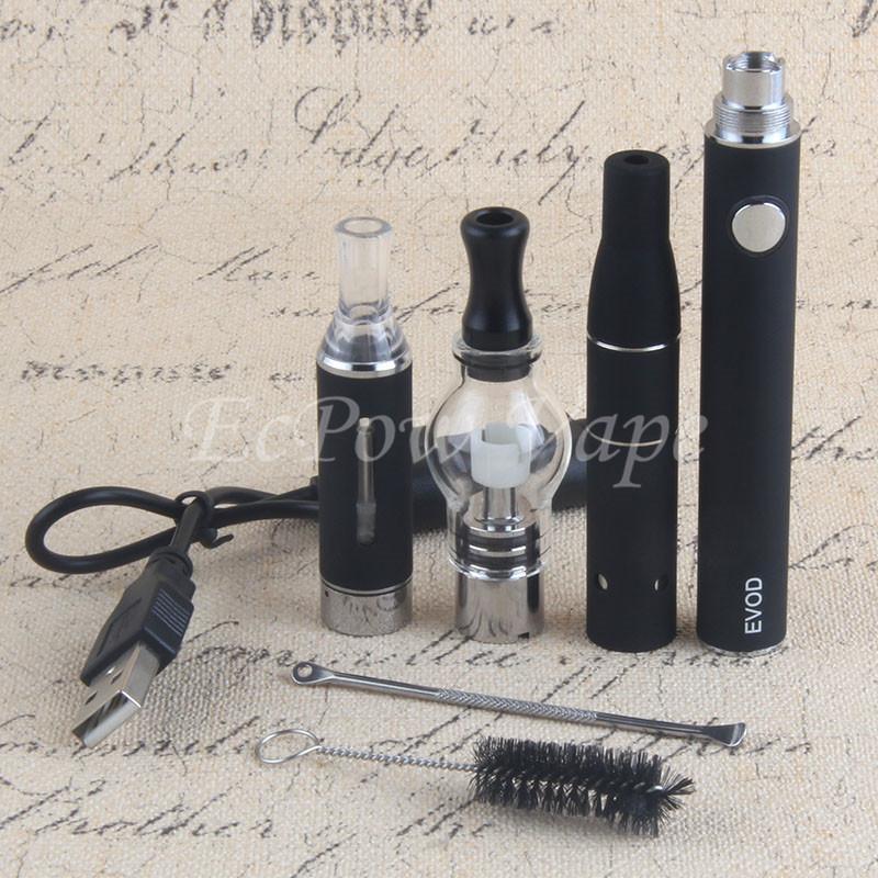 3in1 Vaporizer Ecigarette Starterset Evod Batterie MT3 eliquid Globus Glas Wachs vor trockenen Kraut Zerstäuber 3 in 1 Vape Stifte