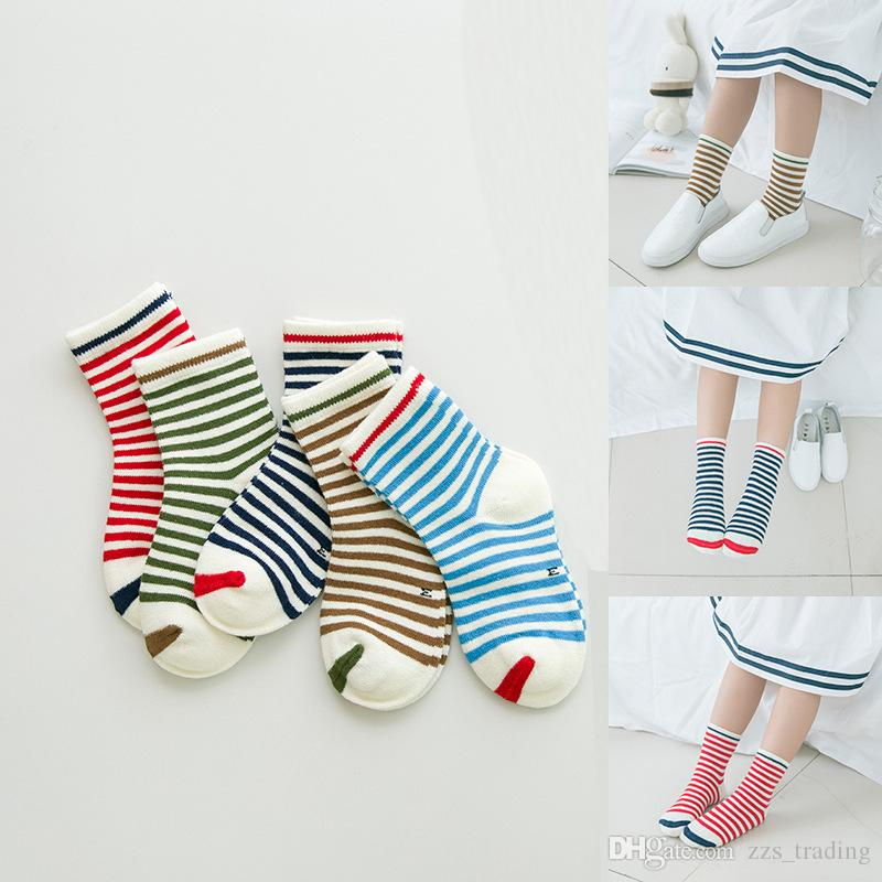 66ded6ea7a2 Classic Striped Printed Kids Children Knee High Soft Leg Warmers Socks  Autumn Winter Sweet Baby Girls Boys Fresh Lovely Smile Cotton Socks Wool  Sock Cool ...