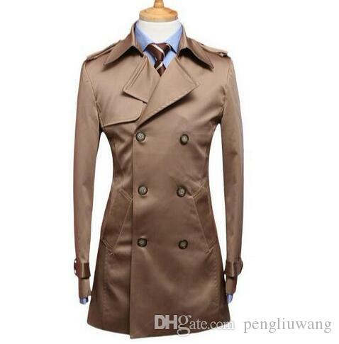 98b1090baa5 2019 Black Blue Beige 2017 Autumn Slim Men S Clothing Medium Long Trench  Coat Men Business Outerwear Mens Trench Coat Plus Size 9XL From  Pengliuwang
