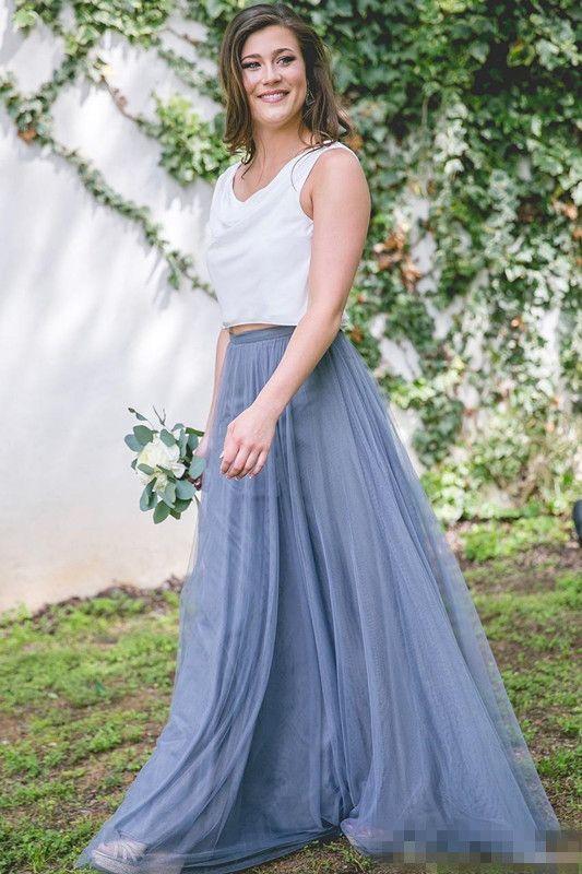 2017 New Cheap tulle bridesmaid dress Women Long Skirt Tutu Elegant Petticoat Casual Tulle Elegant Long Skirt A-line Dresses Without Blouse