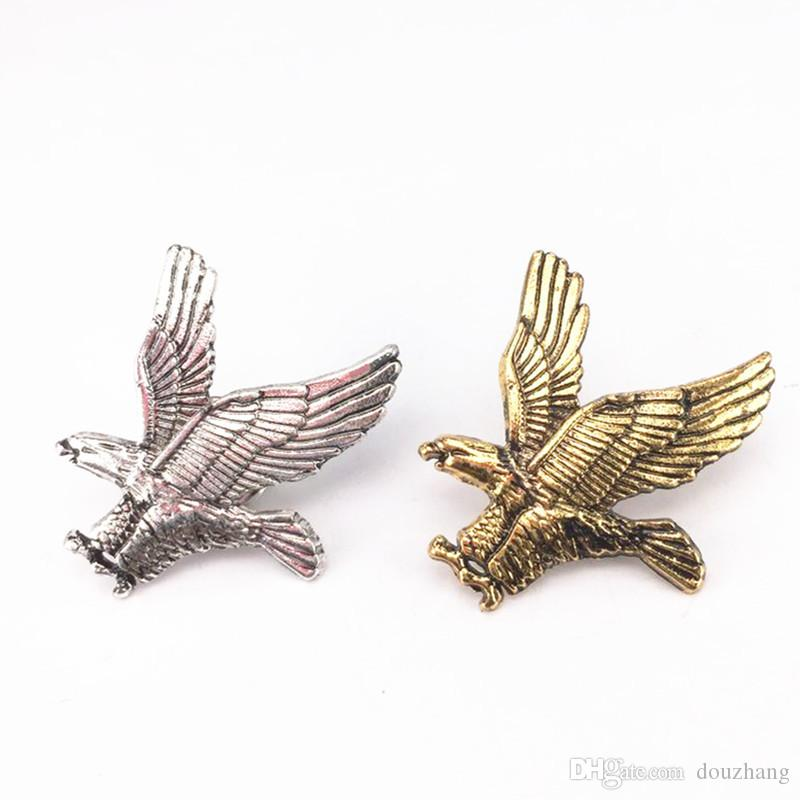 Wholesale Unisexe Eagle Shirt Broche Pin Collier Bouton Bouton Broches Broches Femmes Hommes Bijoux