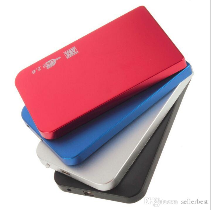 i S2502 EL5018 USB 2.0 Disco rigido HDD Disco HDD Contenitore Esterno 2.5 pollici SATA HDD Custodia Box Super Slim disco in lega di alluminio Mobile
