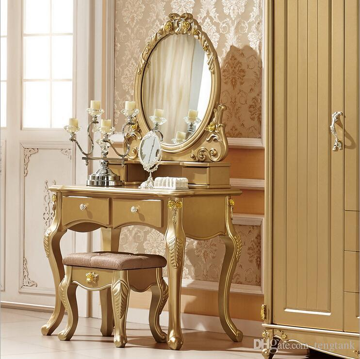 Buy Factory Price Royaleuropean Mirror Table Modern Bedroom Dresser French  Furniture White French Dressing Table Pfy10057 In Bulk From Bedroom  Furniture ...