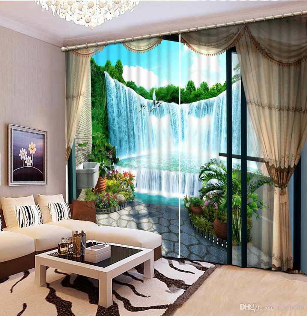 CEuropean Art Hochwertige Urtains Für Wohnzimmer Verdunkelung 3d  Fenstervorhänge, Ist Das Material Polyester Fertigen Kundengröße An