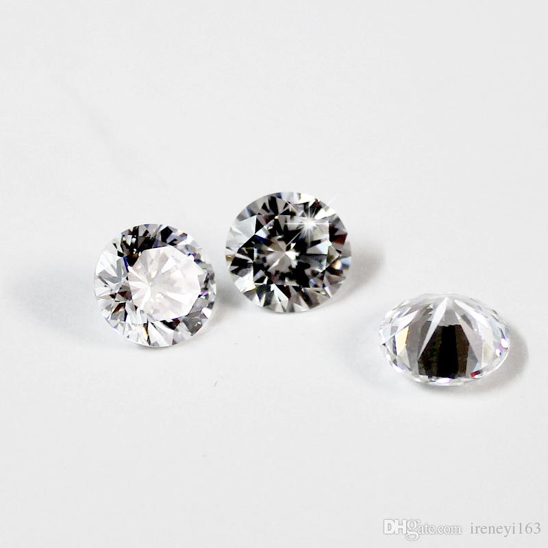 رخيصة الثمن صغيرة الحجم 0.7 ملليمتر -1.6 ملليمتر جودة 3a مقلد الماس الأبيض جولة الشكل زركون فضفاض تشيكوسلوفاكيا الأحجار للمجوهرات صنع 1000 قطع