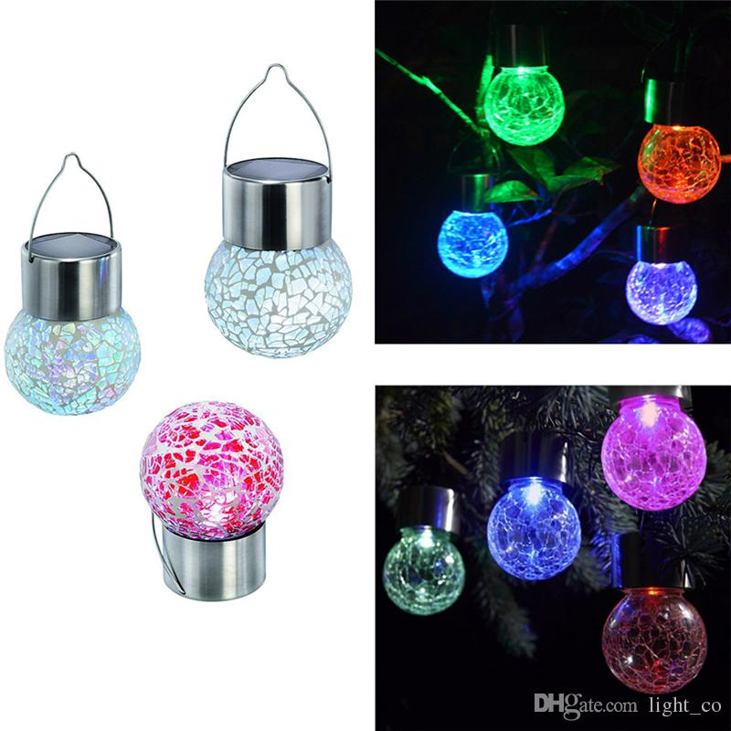 2018 Solar Hanging Lights Solar Power Light Wind Spinner Led Light Crackle  Glass Hanging Lights Outdoor Garden Courtyard Hanging Lamp Lawn Lights From  ...