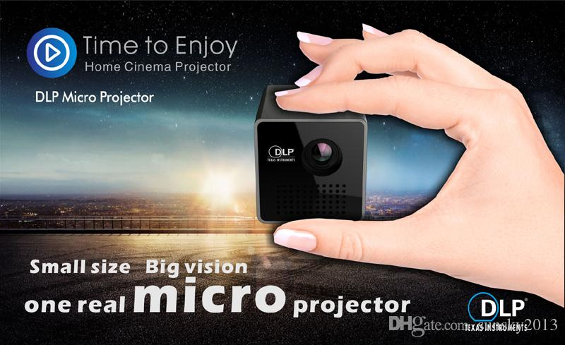 Uninc P1 + DLP Micro Projektor Mini Portable LED Projektoren mit 3,5 mm Audio Anschluss Micro USB Tasche Home Movie Beamer