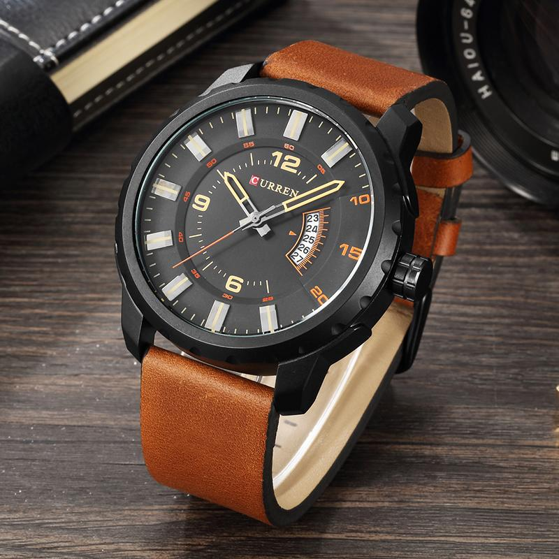 5c3c58a8c52 CURREN Wholesale Mens Watch Strap Casual Business Black Wristwatches  Calendar Waterproof Fashion Black Relogio Masculino 8245 Online Shopping  Wrist Watch ...