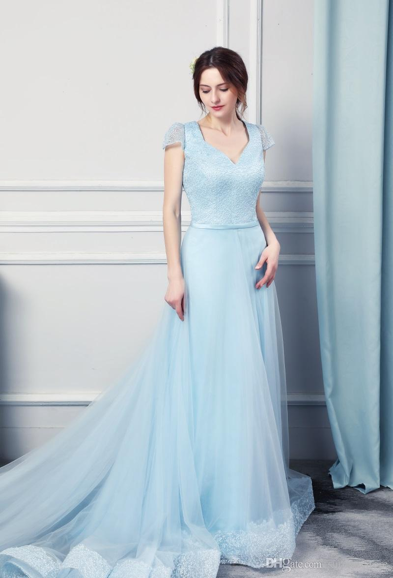 New Real Photo Hot Selling 2018 Pure Style Sweetheart Sweep Train ...