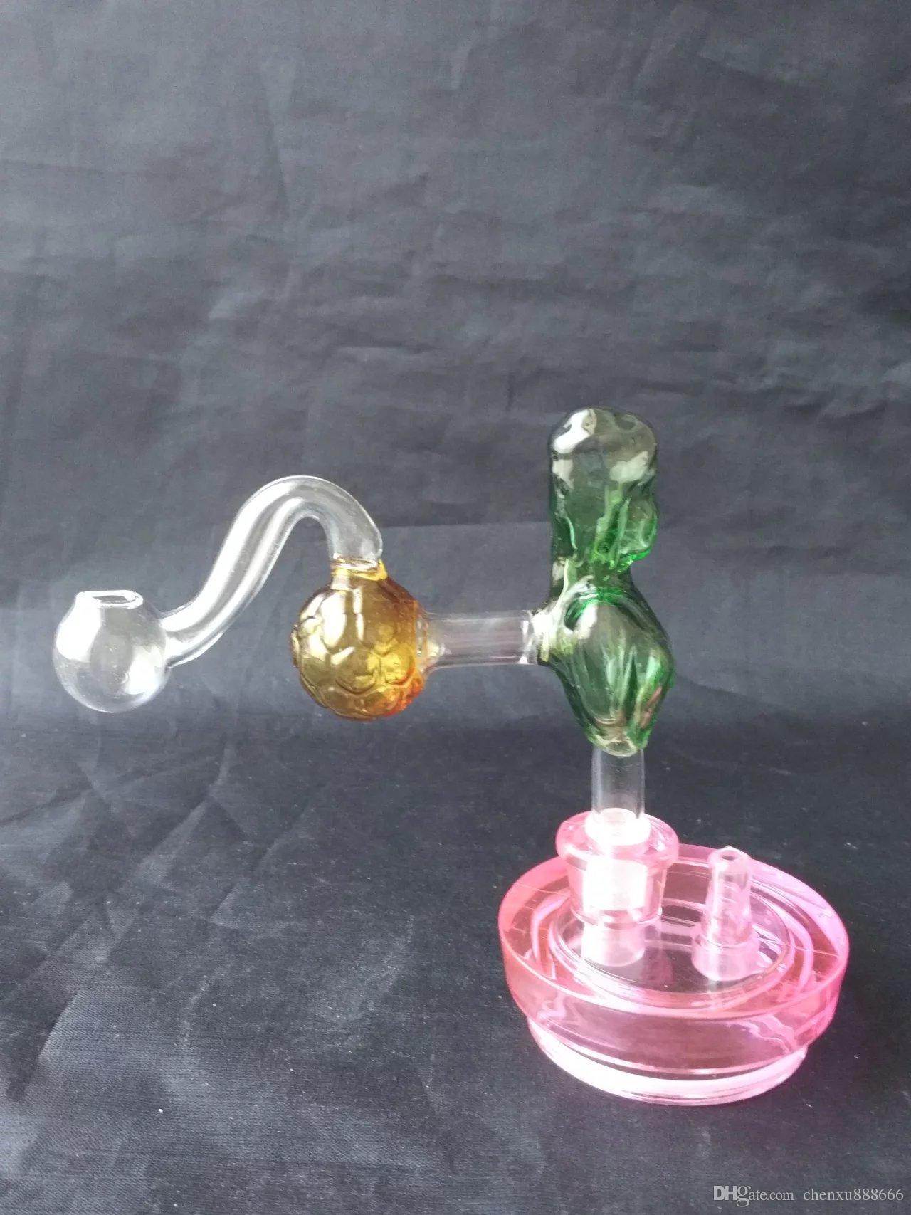Beleza bongs queimador acessórios, vidro de água da tubulação cachimbos coador de vidro Bongos queimador de óleo tubulações de água plataformas petrolíferas fumadores com conta-gotas