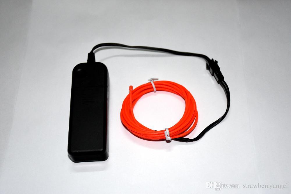 2 m / grup Esnek Neon Işık Glow EL Halat tüp Kablo Şerit LED Neon Işıkları Ayakkabı Giyim Araba parti pil ile dekoratif denetleyici