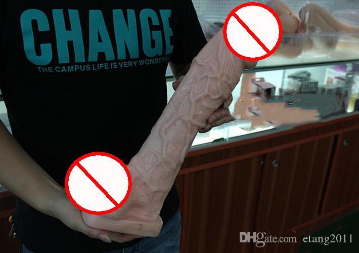 Più nuovo Super X-Large Dildo Silicone Pene Femminile Masturbazione 15 pollici 39cm Realistico Dildo Flessibile Bdsm Sex Toy Le Donne