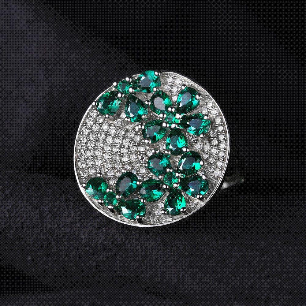 bbcff2fc6b34c JewelryPalac Green Emerald Ring Cocktail Genuine Pure Solid 925 Sterling  Silver Wholesale Fashion Vintage For Women