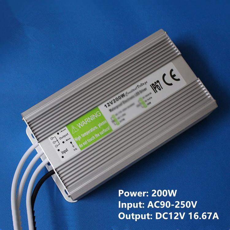 Alta Qualidade DC 12 V 5A 60 W Led Fonte de Alimentação 20-300 w Transformador Led Driver Adaptador 90 V-250 V Transformadores À Prova D 'Água de tensão constante