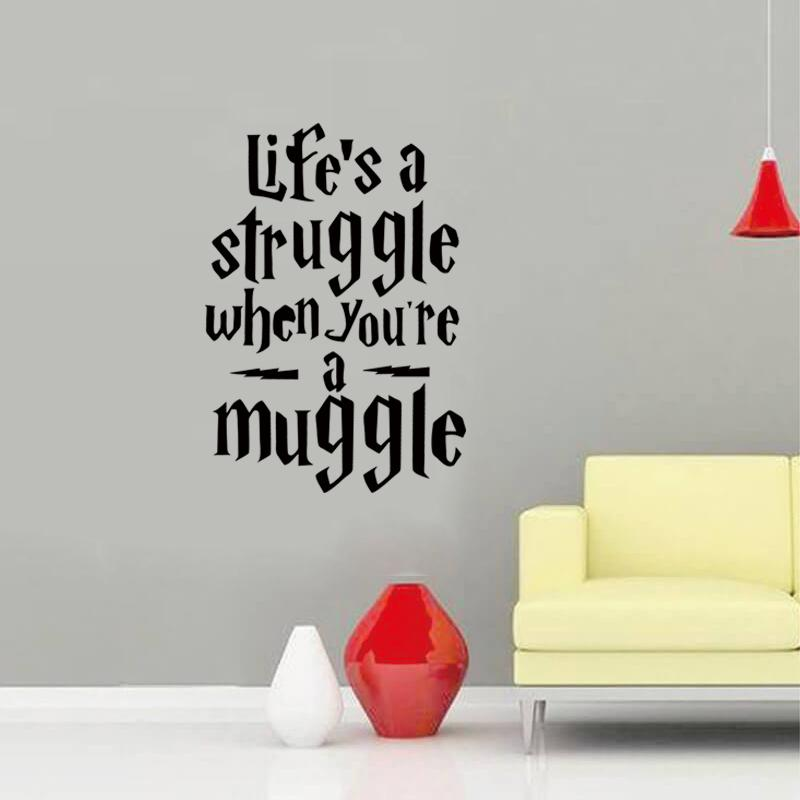 2017 Hot Sale Life Is A Struggle Wall Sticker Teens Room Decoration