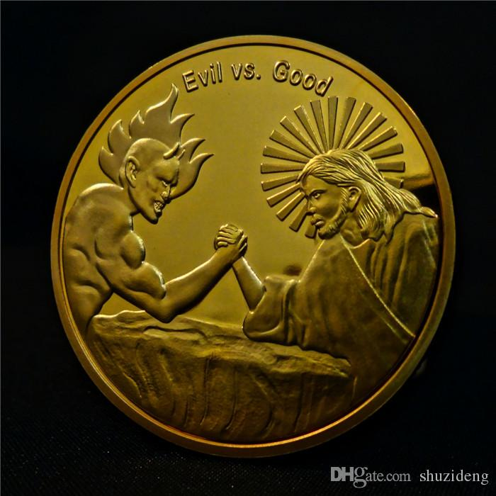 2018 In God We Trust Good Vs Evil Christian Faith Challenge Coin ...